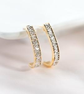 J-Hoop Earrings