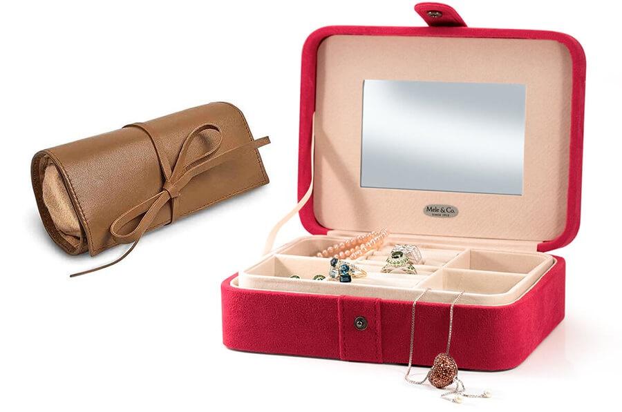 Jewelry Roll, Jewelry Box With Jewelry. Jewelry Storage
