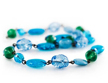 Strand of Blue and Green Beads
