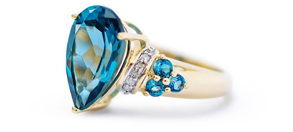 London Blue Topaz Yellow Gold Ring