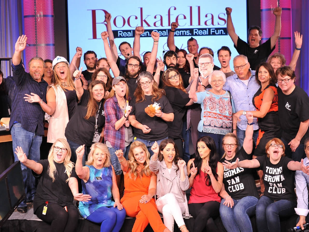 Rockafellas cast and crew at the JTV Experience live show