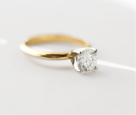 Lab-grown diamond ring
