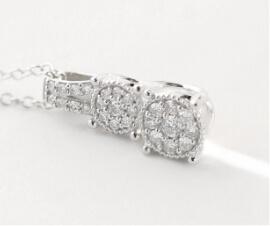 Lab-grown diamond pendant