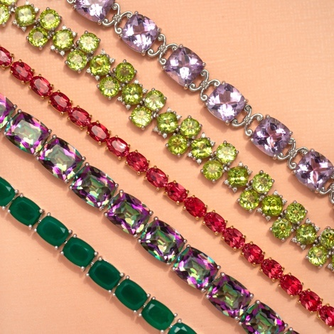 colorful gemstone pendants