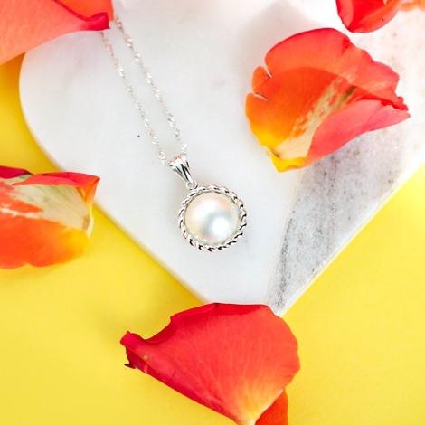 White South Sea Mabe Pearl Earrings