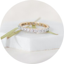Moissanite Wedding Bands