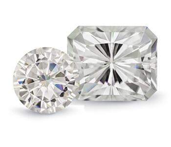 Two Moissanite Fire Gemstones