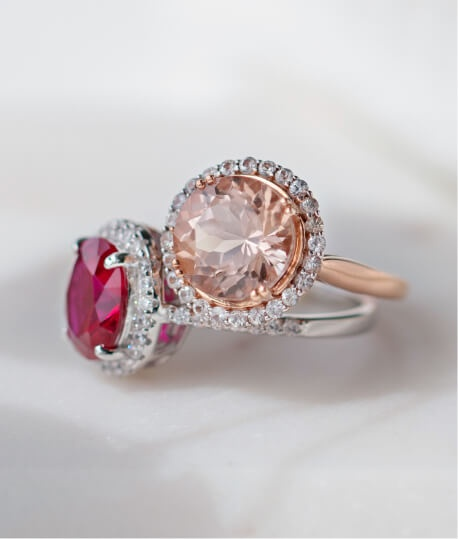 Colorful Gemstone Bridal Rings