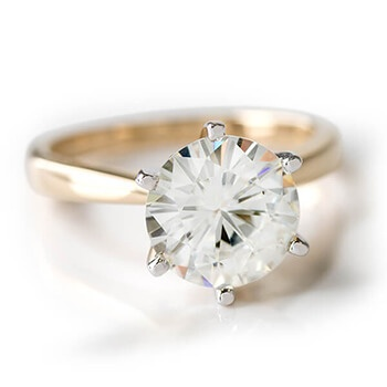 Moissanite Fire Solitaire Ring