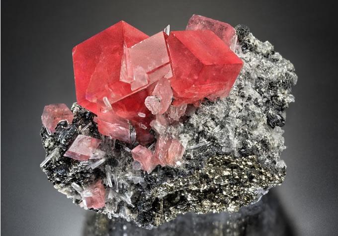 Rhodochrosite gemstone specimen