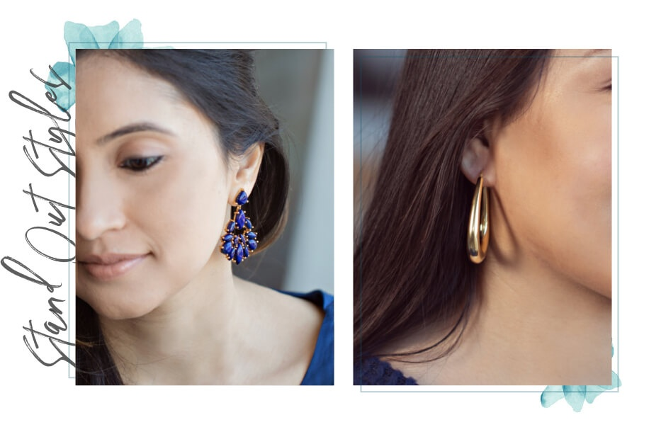 Stand Out Style - Woman wearing statement earrings