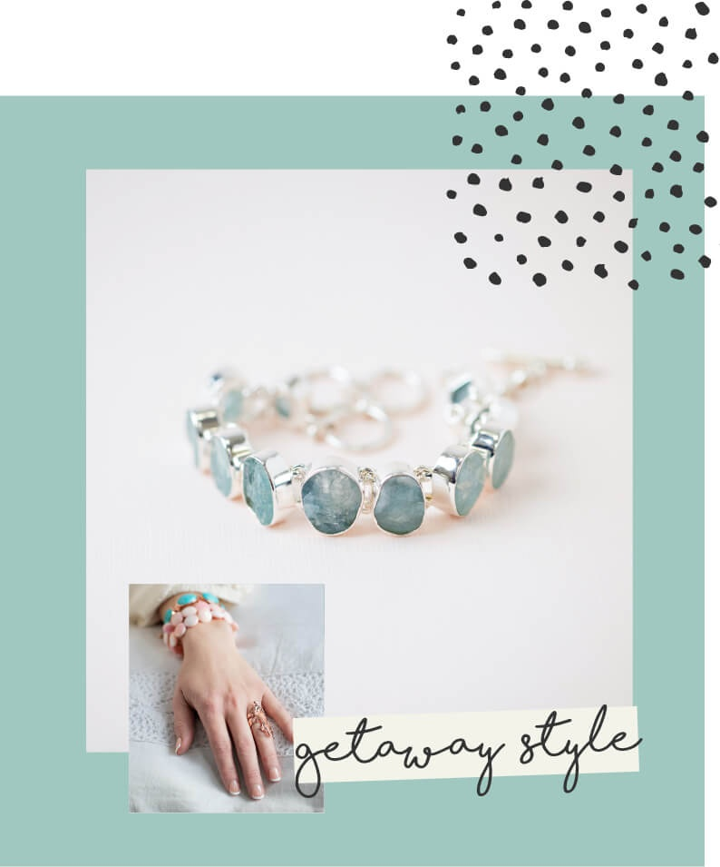 Resort style bracelets and rings