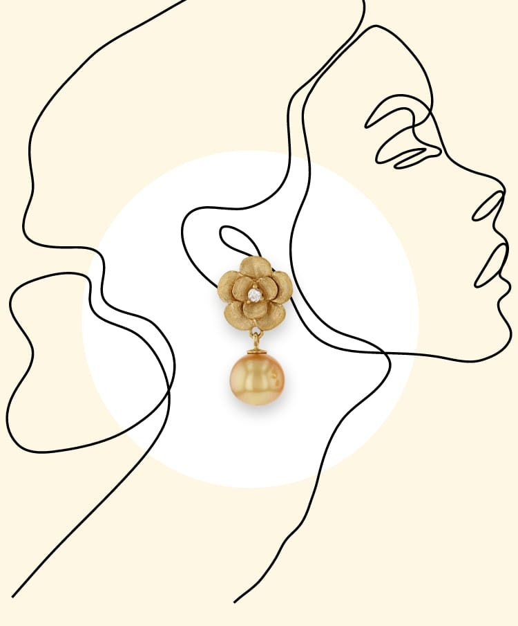 Illustration of a woman wearing an earring
