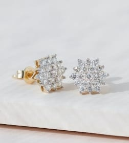 Cluster Stud Earrings