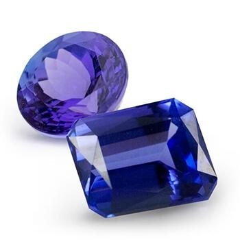 Two Tanzanite Gemstones