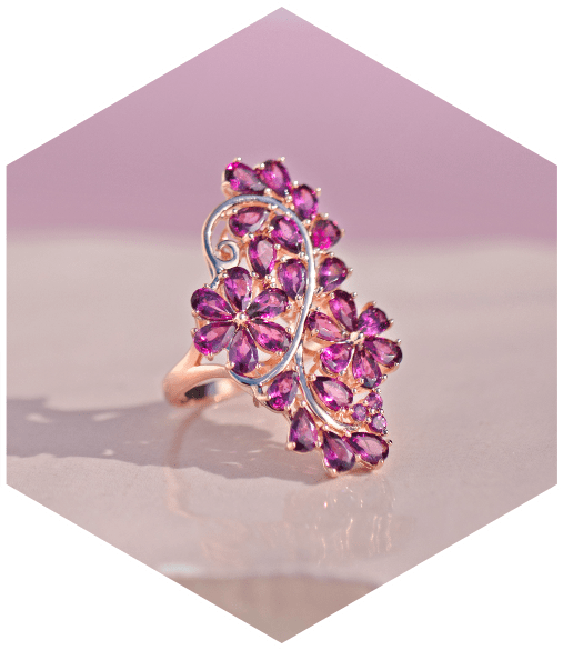 Color gemstone ring