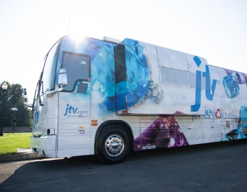 JTV Jewelry Love Tour Bus