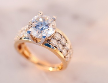 Moissanite Fire Jewelry in gold
