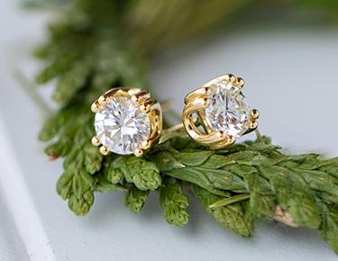 Moissanite Earrings MFS001Y