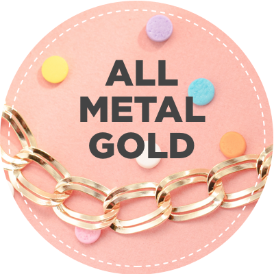 All metal gold jewelry