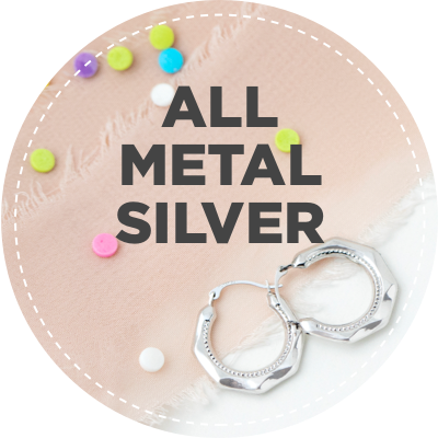All metal silver jewelry