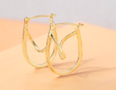 All Metal gold hoops