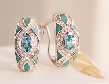 Blue zircon jewelry