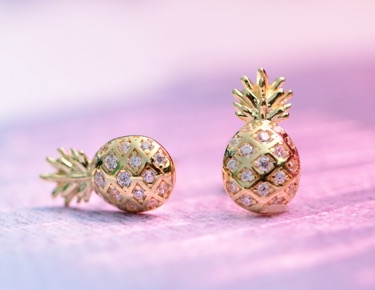 pineapple earrings new markdowns