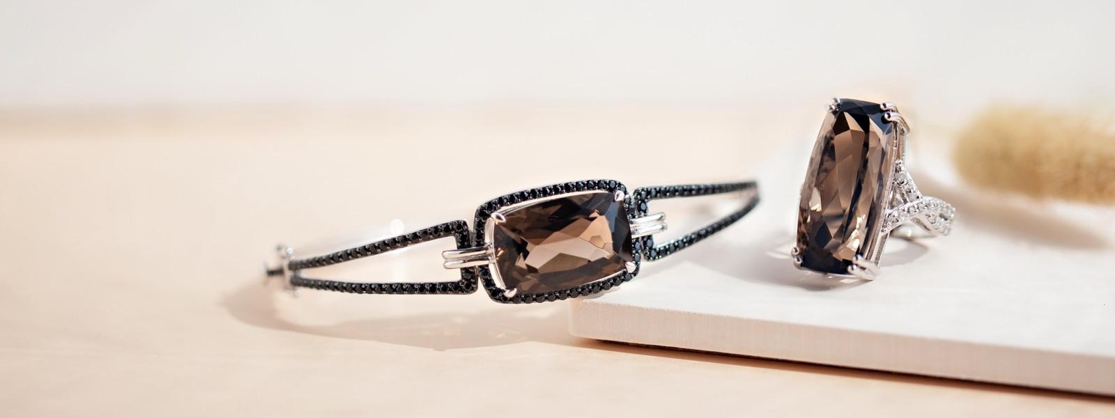Smoky quartz jewelry