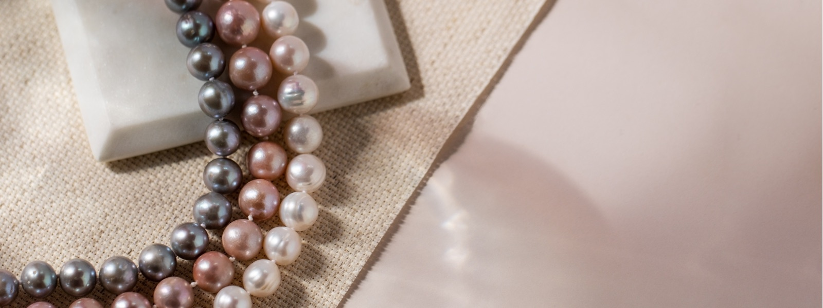 colorful pearl strands