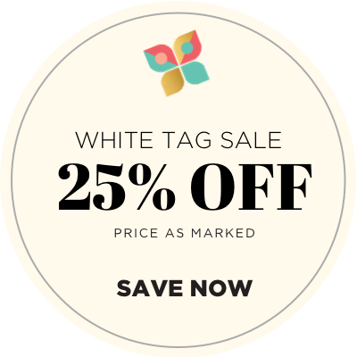 White Tag Sale - 25% Off - Price As Marked - Shop Now