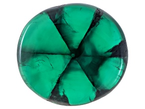 Trapiche Emerald 24.78ct 18.27x16.92x9.42mm Near Round Cabochon Comes With Sgl Report